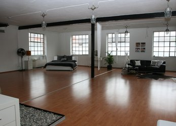 bright large loft in the old industrial Court