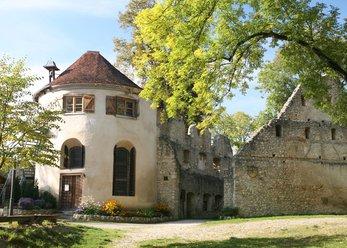 Burgruine mit Saal, Holzofen und Kapelle